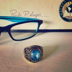 2015 Jostens Keyston gold vermeil class ring